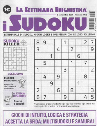 La settimana enigmistica - i sudoku - n. 163 - 2 settembre 2021 - settimanale