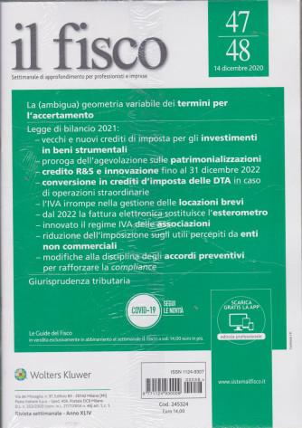 Il fisco - n. 47/48-14 dicembre  2020 - settimanale - 2 riviste