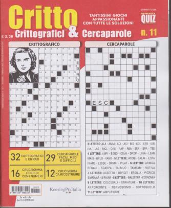 Critto - Crittografici & Cercaparole - n. 11 - 15/12/2020 - trimestrale