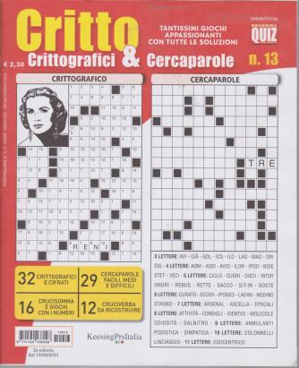 Critto - Crittografici & Cercaparole - n. 13 - 15/6/2021 - trimestrale