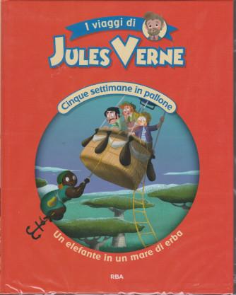 I viaggi di Jules Verne - Cinque settimane in pallone - Un elefante in un mare di erba -  n. 15 - settimanale - 25/12/2020 - copertina rigida