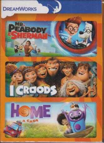 I Dvd di Sorrisi - n. 1  - Mr. Peabody e Sherman - I croods - Home a casa - 3 film - 22/12/2020