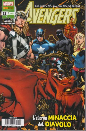 Avengers n. 132 - L'eterna minaccia del diavolo -   mensile - 11 febbraio 2021