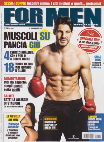 For Men Magazine - n. 219 -maggio  2021 - mensile