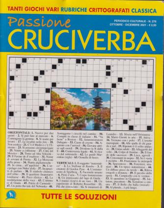 Passione cruciverba - n. 276 - ottobre - dicembre 2021