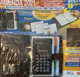 Agenda 2021 + calcolatrice a energia solare