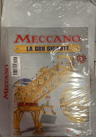 Meccano LA GRU GIGANTE - 3a Uscita - raccoglitore + componenti