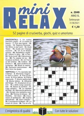 Mini Relax - n. 2049 - settimanale - 31/8/2021