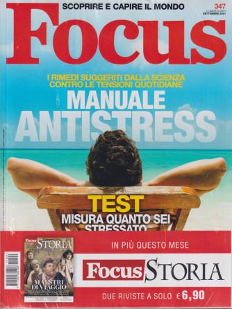 Focus + Focus Storia -    n. 347-settembre 2021- mensile - 2 riviste