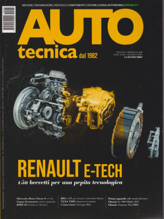 Auto Tecnica - n. 468 - mensile -agosto - settembre  2021