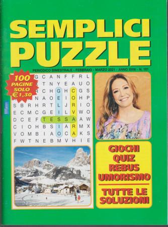 Semplici Puzzle - n. 101 - bimestrale - febbraio - marzo 2021 - 100 pagine