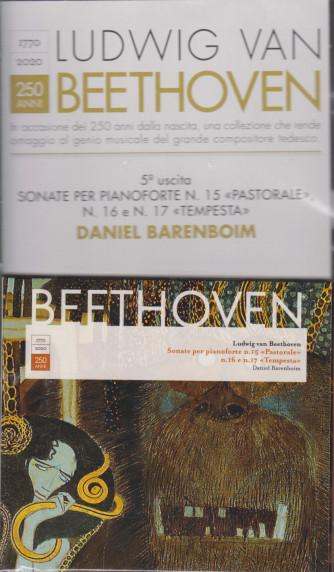 CD Ludwig Van Beethoven  -quinta  uscita - Sonate per pianoforte n. 15 Pastorale n. 16 e n. 17  Tempesta - Daniel Barenboim - settimanale  - 12 gennaio 2021