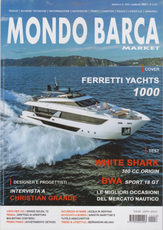 Mondo Barca Market - n. 258 - mensile - luglio  2021