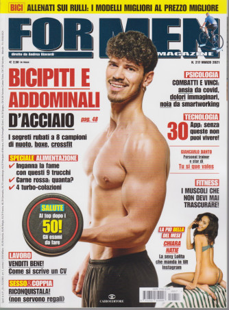 For Men Magazine - n. 217 -marzo 2021 - mensile