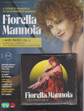 Cd Musicali di Sorrisi - n. 6 -Fiorella Mannoia - 11maggio 2021 - settimanale - I miei passi - vol. 3 - doppio cd + libretto