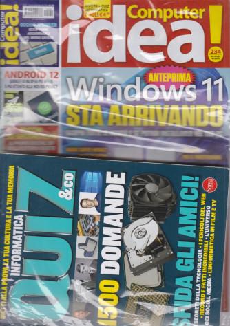 Computer Idea! - n. 234 - dal 23 luglio al 4 agosto 2021 + il libro Quiz & Co. - rivista + libro