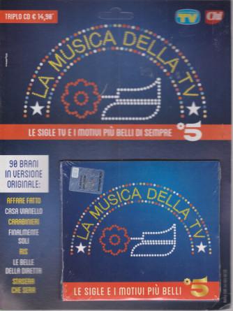Cd Sorrisi speciale n. 9 -La musica della tv- 13 aprile  2021 - settimanale - triplo  cd