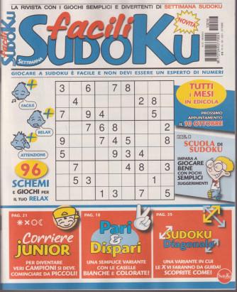 Settimana sudoku facili - n. 16 - mensile - ottobre 2021