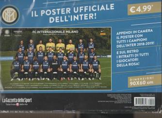 Il poster ufficiale dell'Inter! 2018-19 - dimensioni 90x60 cm