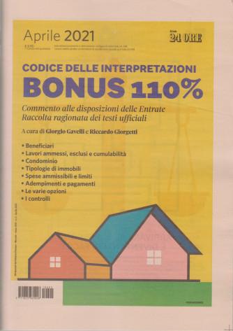 Bonus 110% - n. 2 - aprile 2021- mensile