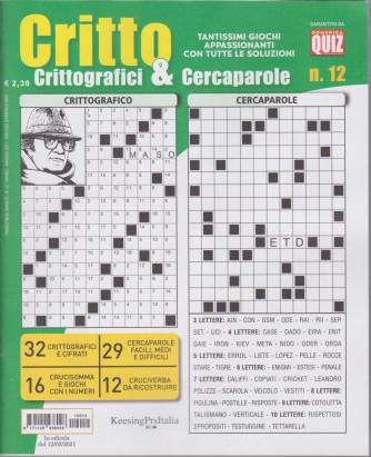 Critto - Crittografici & Cercaparole - n. 12 - 12/3/2021 - trimestrale