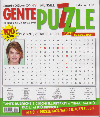Gente puzzle - n. 9 - settembre 2021 - mensile - 100 pagine