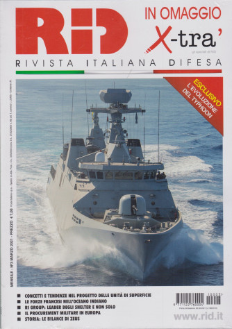 Rid  - n. 3 - mensile - marzo  2021+ in omaggio x-trà - 2 riviste