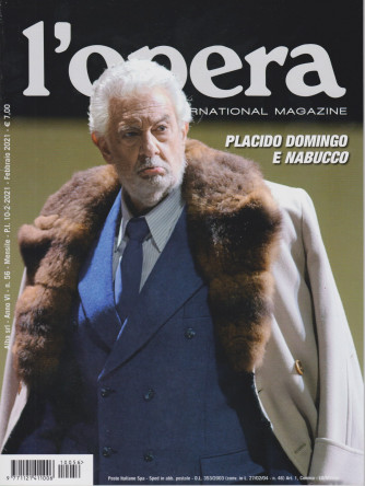 L'opera international magazine - n. 56 - mensile -febbraio 2021