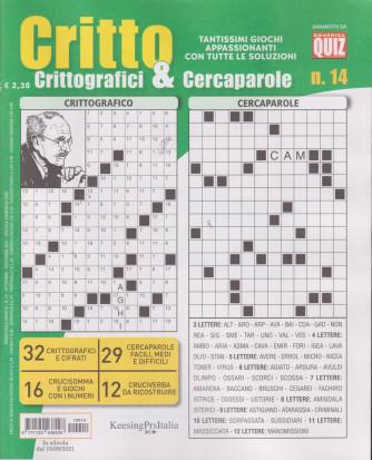 Critto - Crittografici & Cercaparole - n. 14 -settembre - novembre 2021 - trimestrale