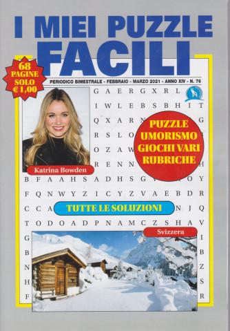 I miei puzzle facili -- n. 76 - bimestrale - febbraio - marzo 2021 - 68 pagine