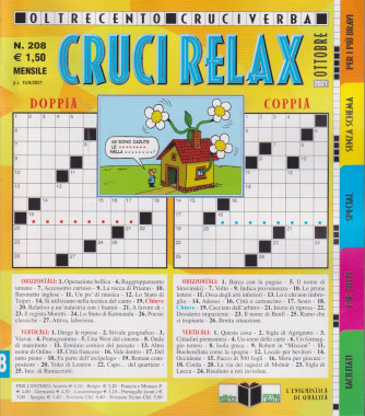 Cruci Relax - n. 208 - mensile - ottobre 2021 -