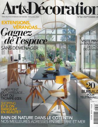 Art &  Decoration - n. 561  -settembre  2021 - mensile - in lingua francese