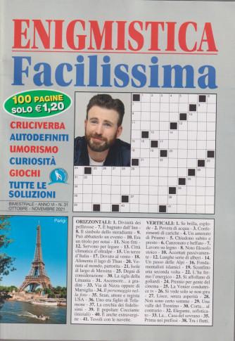 Enigmistica Facilissima - n. 31 - bimestrale -ottobre - novembre  2021 - 100 pagine