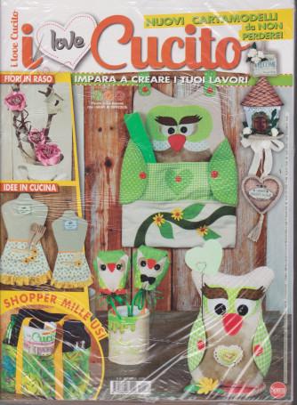 I Love Cucito - n. 40  - bimestrale -aprile - maggio  2021 + Crea borse zaini & shopper - 2 riviste -