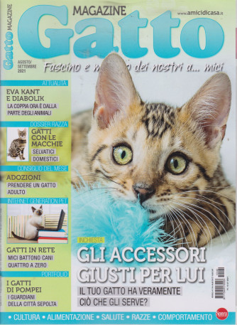 Gatto magazine - n. 140 - mensile -agosto - settembre 2021