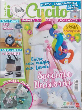 I Love Cucito  Extra - n. 34 - bimestrale -marzo - aprile 2021 + in omaggio un numero di Shabby style - 2 riviste