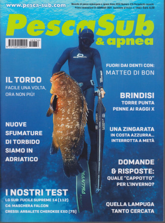 PescaSub & apnea - n. 376 - 1 gennaio 2021 - mensile