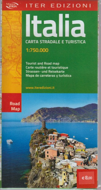 ITALIA. CARTA STRADALE E TURISTICA. - 1:750.000