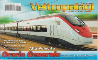 VELTROPALAGI. N. 180. ORARIO GENERALE VALIDO FINO AL 10 DICEMBRE 2016. ALTA VELOCITA'.