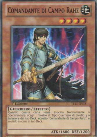 Comandante di Campo Rahz - Yu-Gi-Oh! - Konami