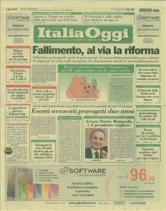 Italia Oggi - quotidiano di Giovedi 5 Febbraio 2015