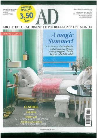 AD Architectural Digest. Le più belle case del mondo n. 422 Luglio/Agosto 2016
