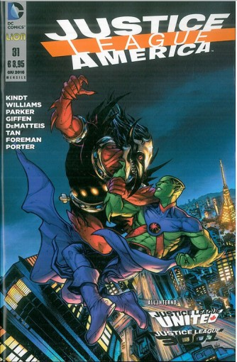 Justice League America 31 - DC Comics Lion