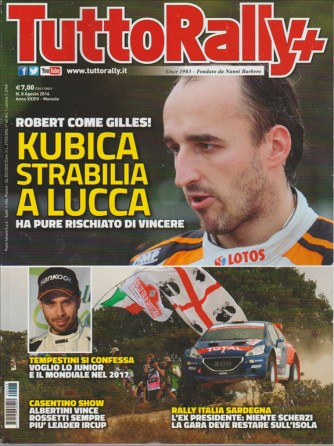 TUTTO RALLY +. N. 8. AGOSTO 2016.