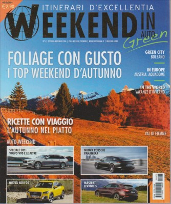 WEEKEND IN AUTO. N. 5. OTTOBRE/NOVEMBRE 2016.