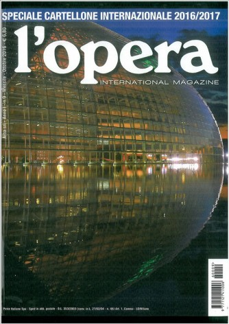L'OPERA International magazine - mensile n.9 Ottobre 2016