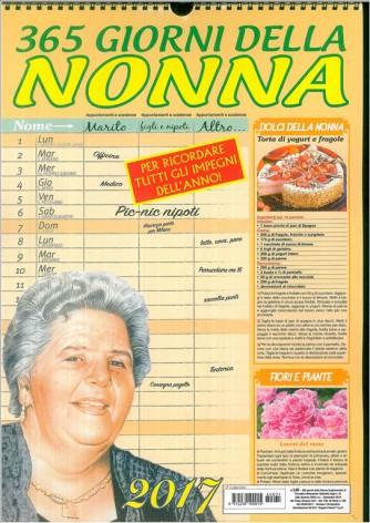 Calendario 2017 - 365 giorni della Nonna - cm. 29 x 42 c/spirale