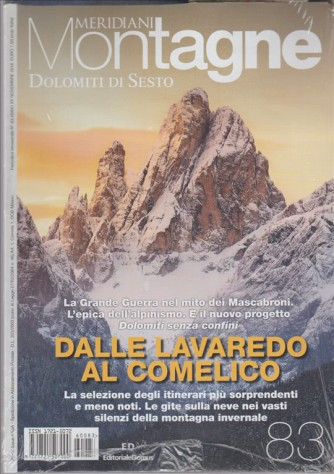 "Meridiani Montagne - mensile n. 83 Novembre 2016 ""Dolomiti di Sesto"""