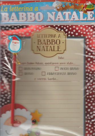 Lettera Babbo Natale con Matita e adesivi