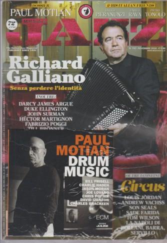 """Musica Jazz - mensile n. 782 Novembre 2016 + CD Paul Motian """"Drum Music"""""""